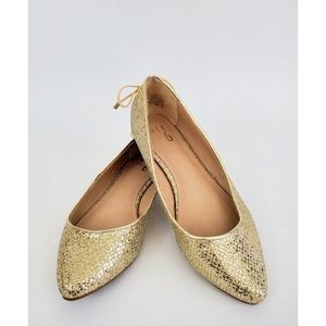 Mix No. 6 Vigowia Gold Sequin Ballet Flats 8